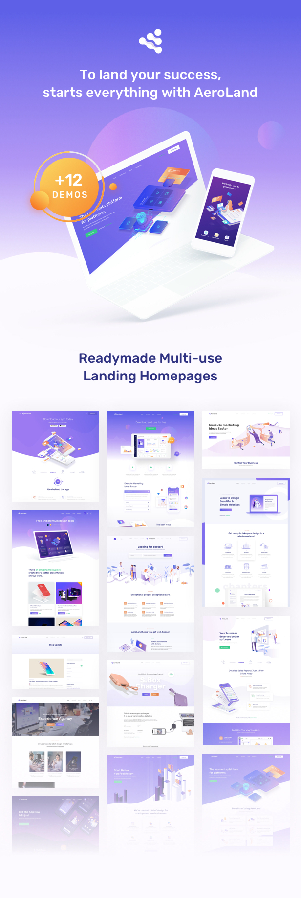 App Landing Software Website WordPress - Awesome WordPress Theme