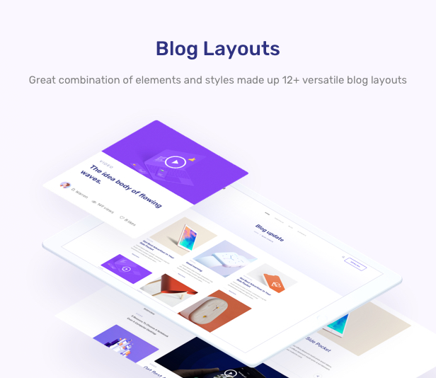App Landing Software Website WordPress - blog layouts