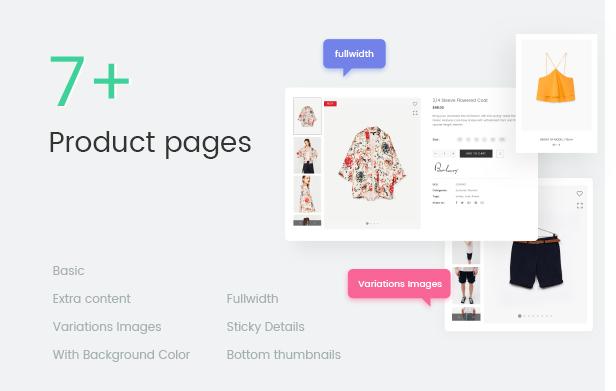 ファッションWooCommerceWordPressテーマ-7以上の製品ページ