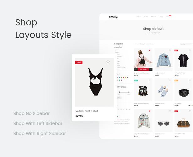 Fashion WooCommerce WordPress Theme - Shop Layouts Styles