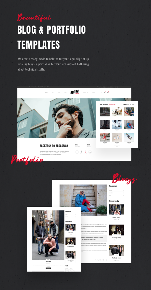 Andre - Street Style Sports & Gym WooCommerce Theme - 14