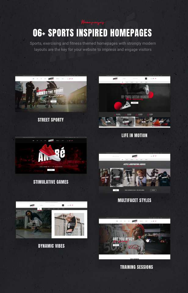 Andre - Street Style Sports & Gym WooCommerce Theme - 6