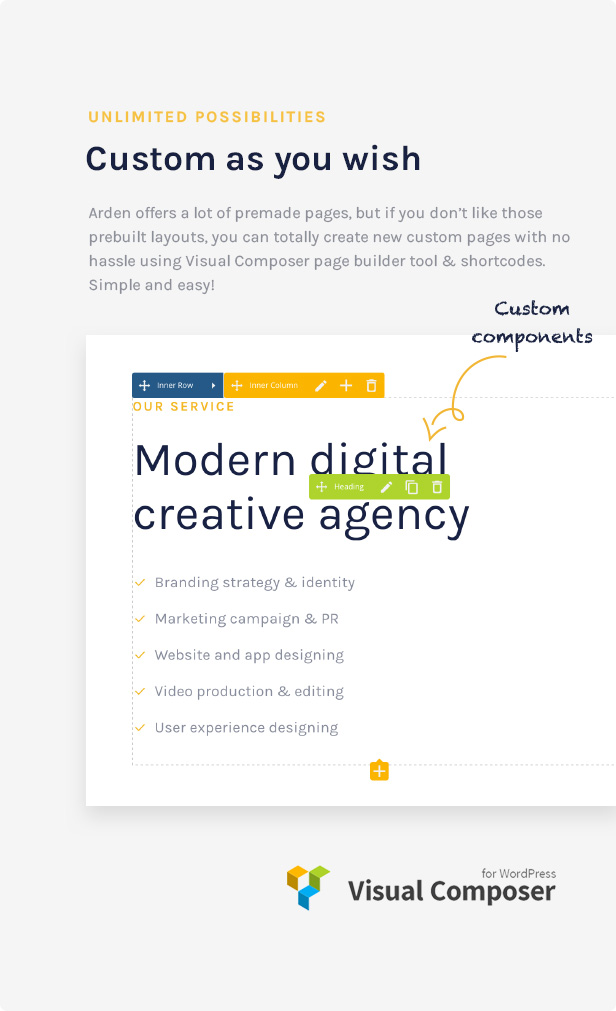 Agency Business Corporation WordPress Theme - Ulimited Possibilities with strong Customizer