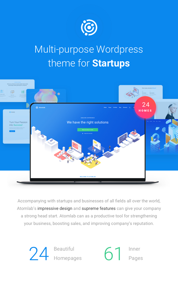 Startup WordPress Theme - New Homepages - New Homepages