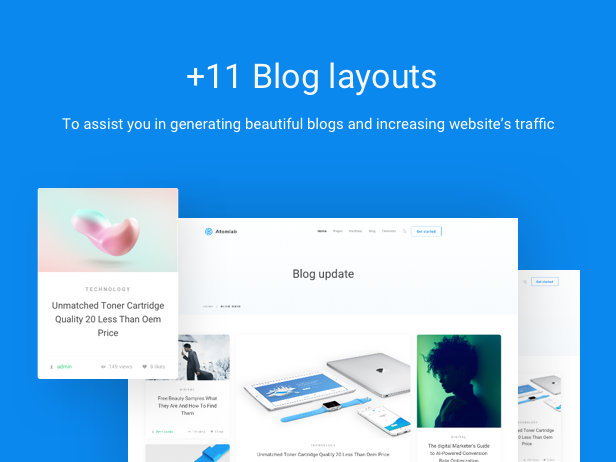 Startup WordPress Theme - 11+ Blog Layouts