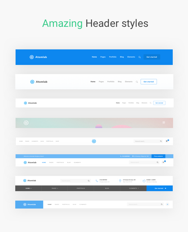 Startup WordPress Theme - Amazing Header Styles