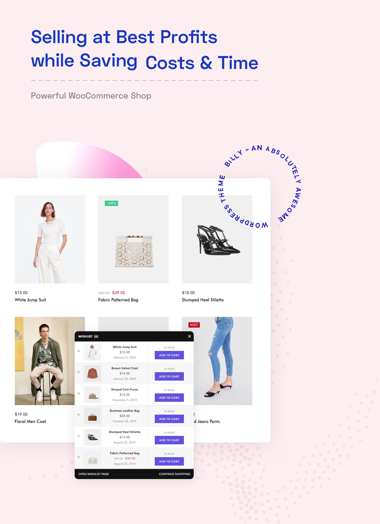 creative woocommerce shop selling