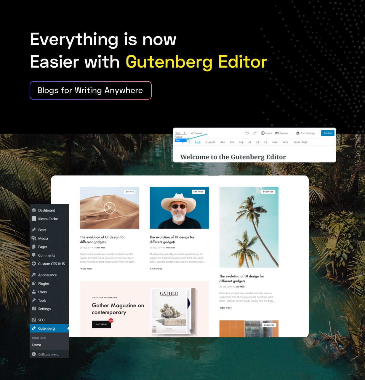 Gutenberg editor for blog