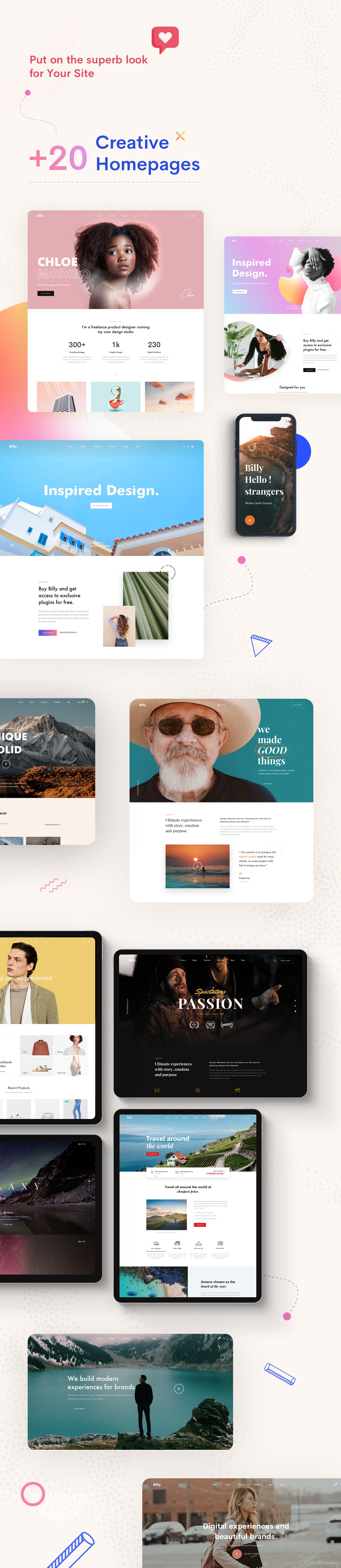 creative multipurpose homepage