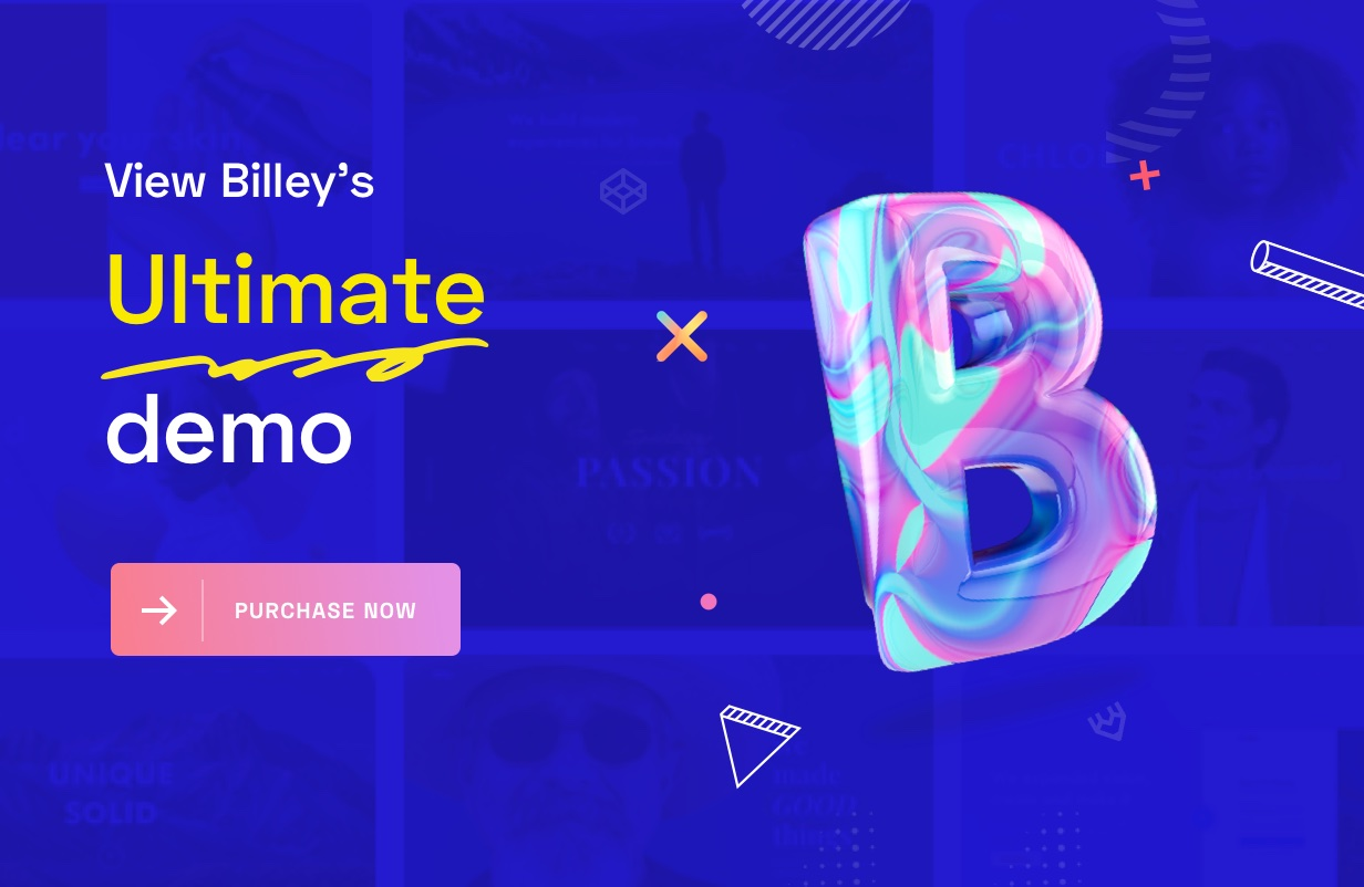 Billey - Creative Portfolio & Agency Elementor WordPress Theme - 7