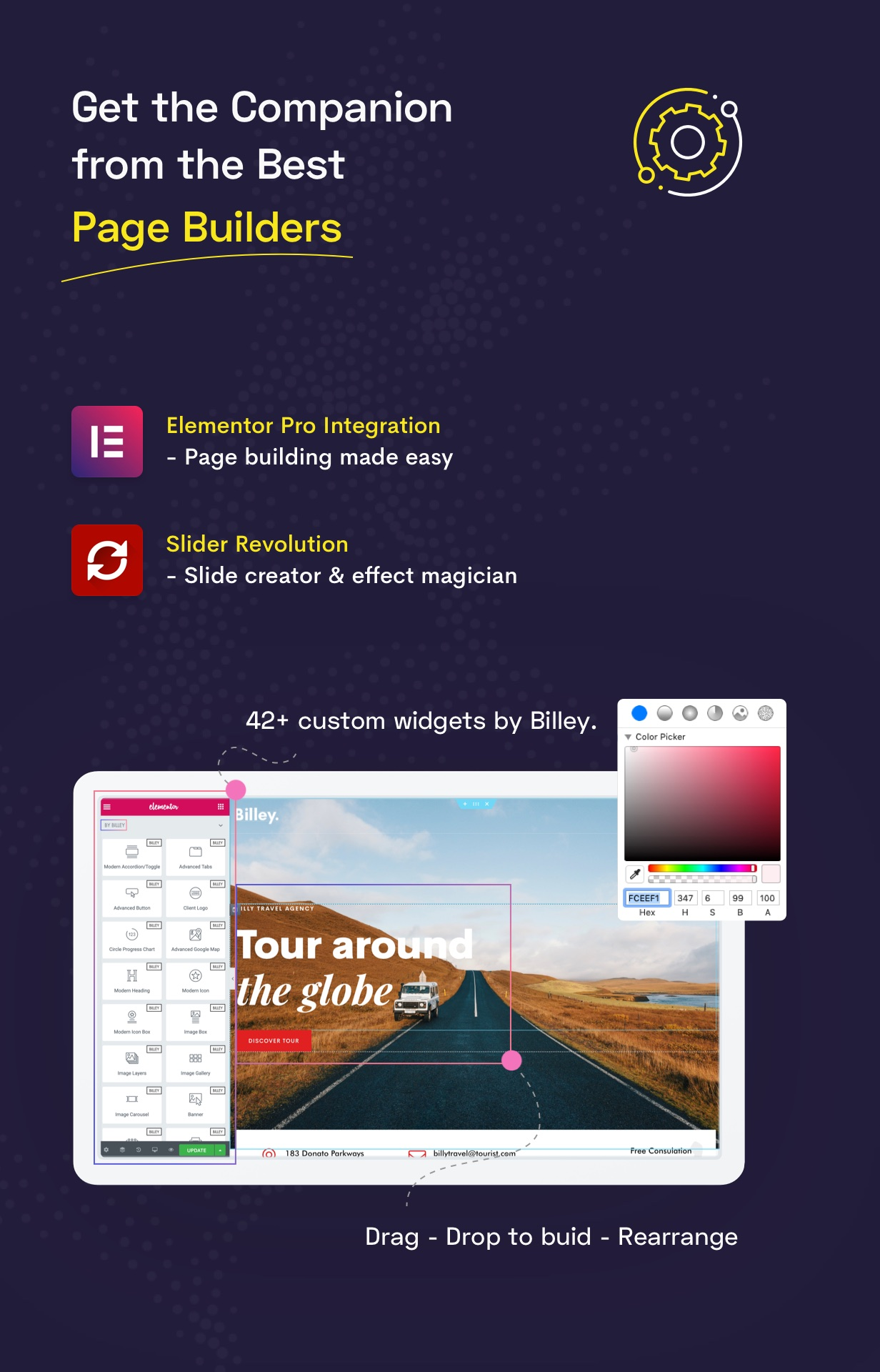 Billey - Creative Portfolio & Agency Elementor WordPress Theme - 8