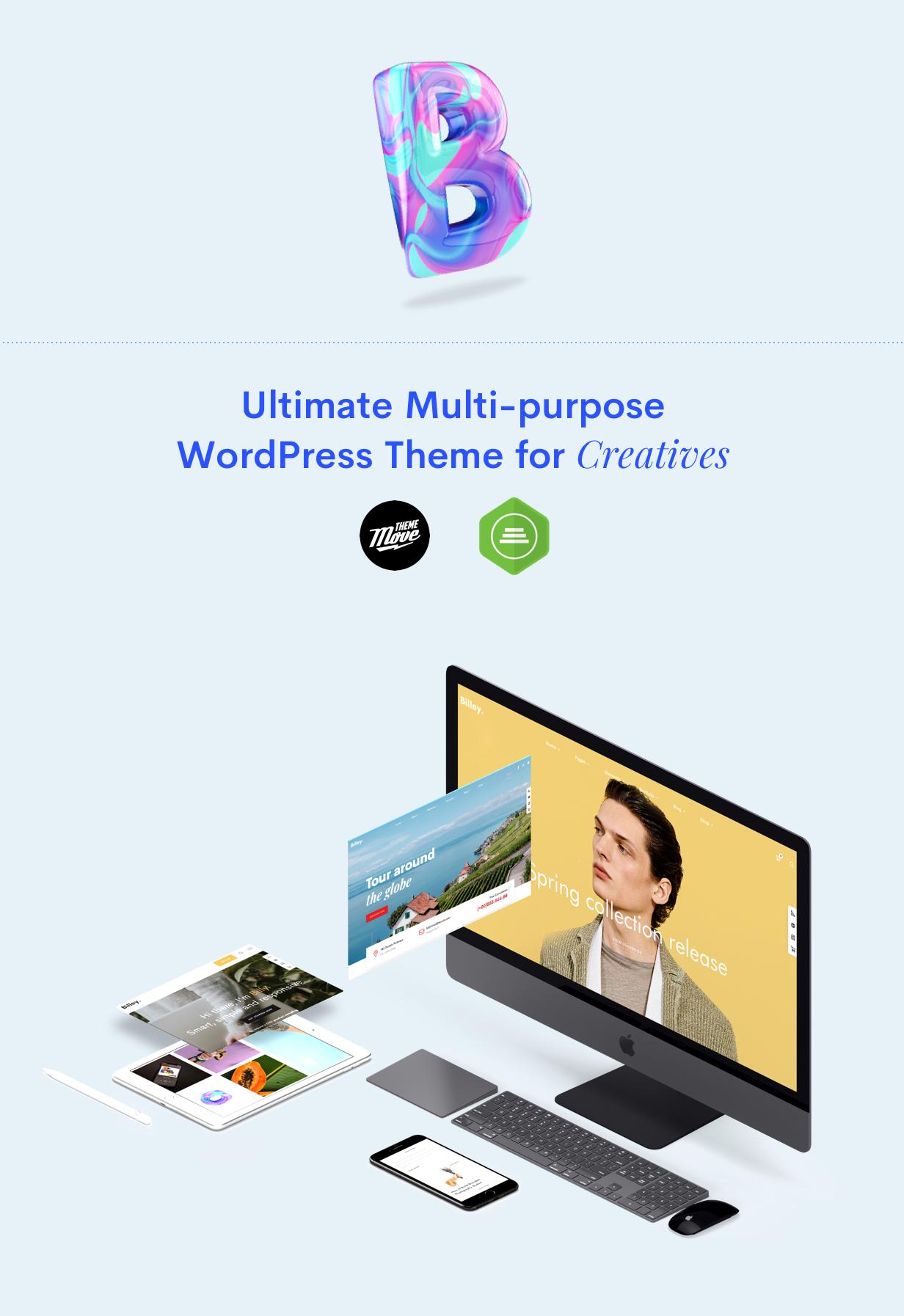 Billey - Creative Multipurpose WordPress Theme - 4