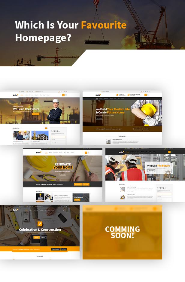 WordPress Theme: Engineering Construction Buildings