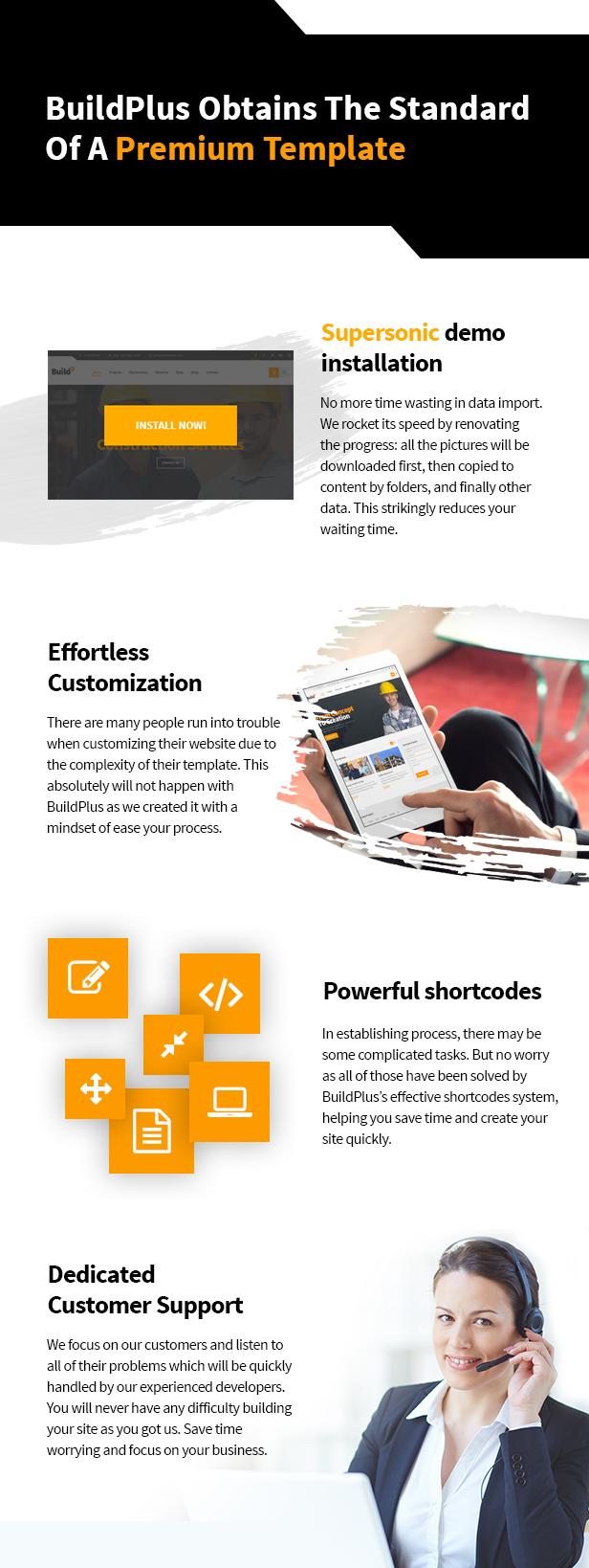 WordPress Theme: Engineering Construction Buildings. Premium templates