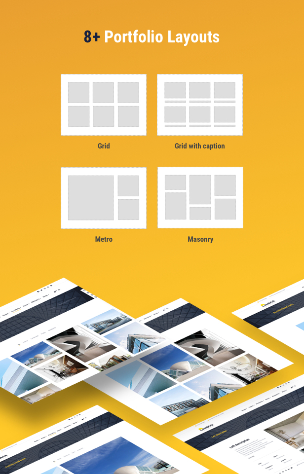 Building Company WordPress Theme - 8+ Portfolio Layouts