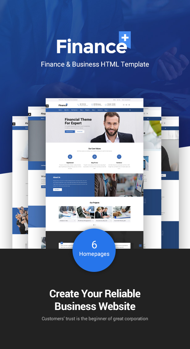 Finance & Finance Business WordPres Theme - 6 Homepages