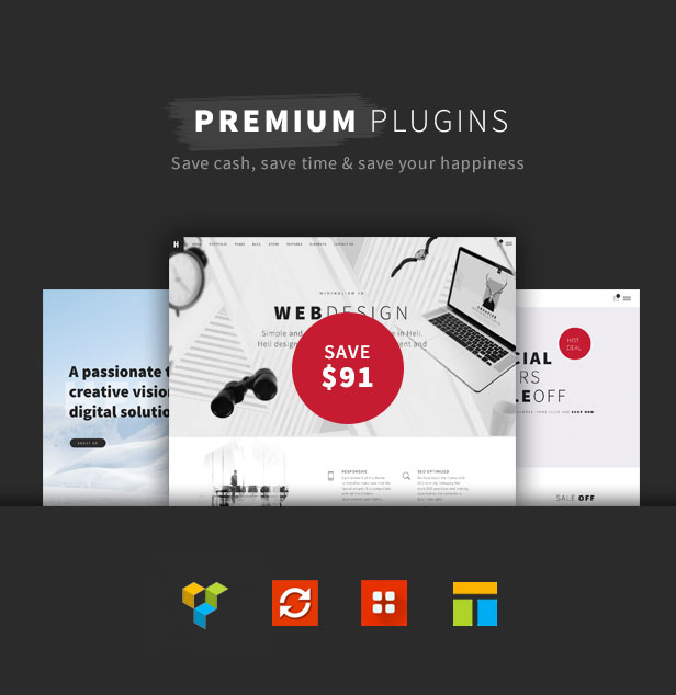 Minimal Creative Black and White WordPress Theme - premium plugins included a black and white WordPress theme