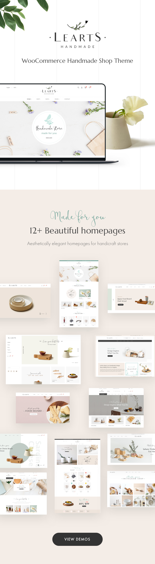 LeArts - WooCommerce Handmade Shop WordPress Theme - 5