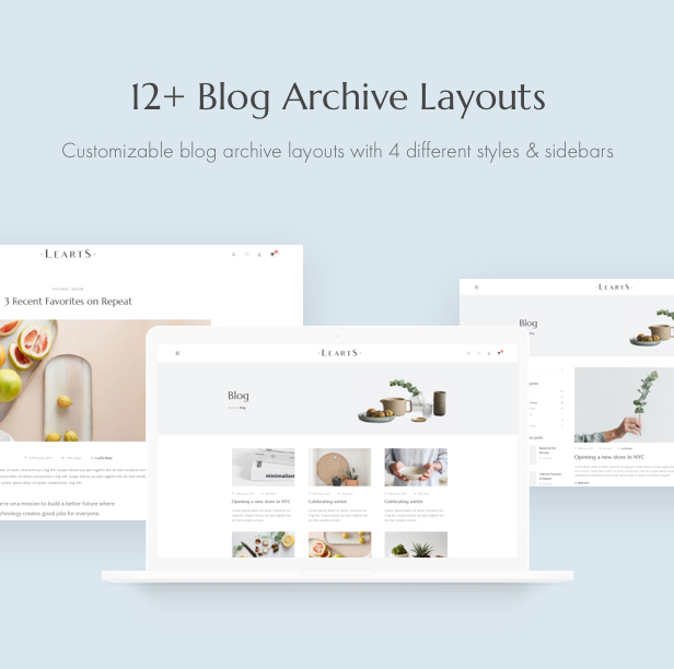 Handmade shop WooCommerce WordPress Theme - Blog Layouts