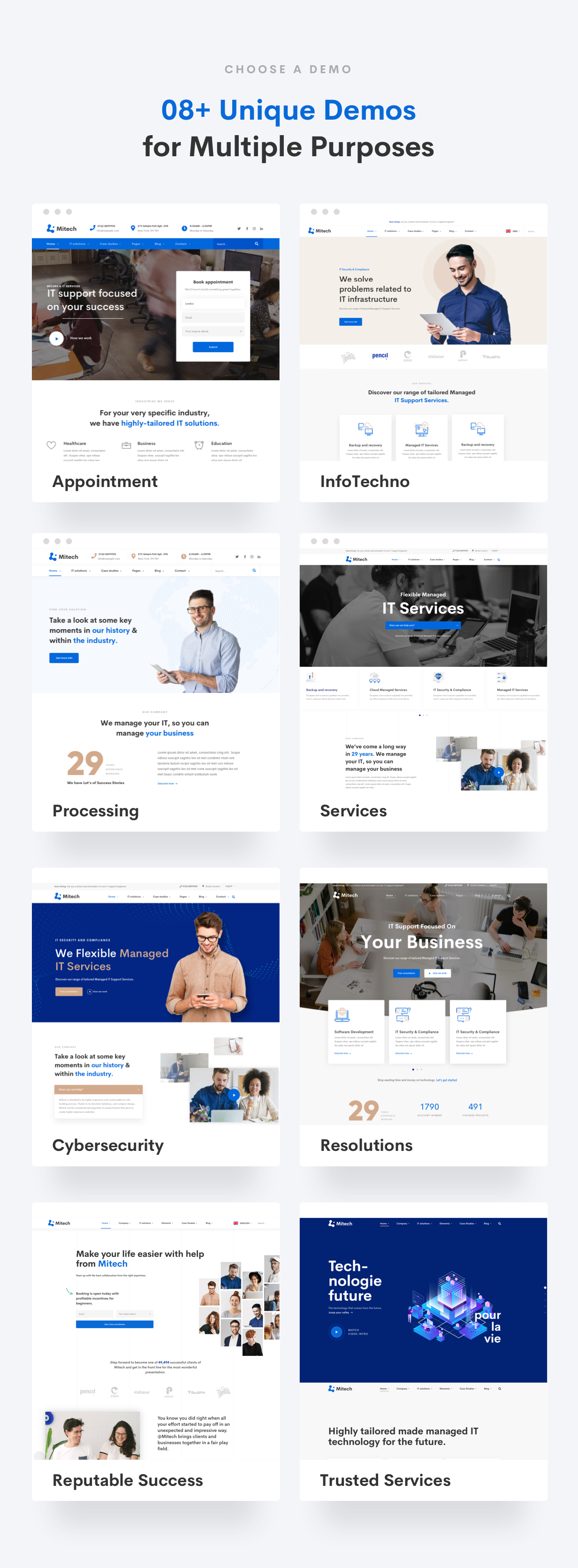 IT Solutions Mitech - Technology, IT Solutions & Service WordPress Theme -