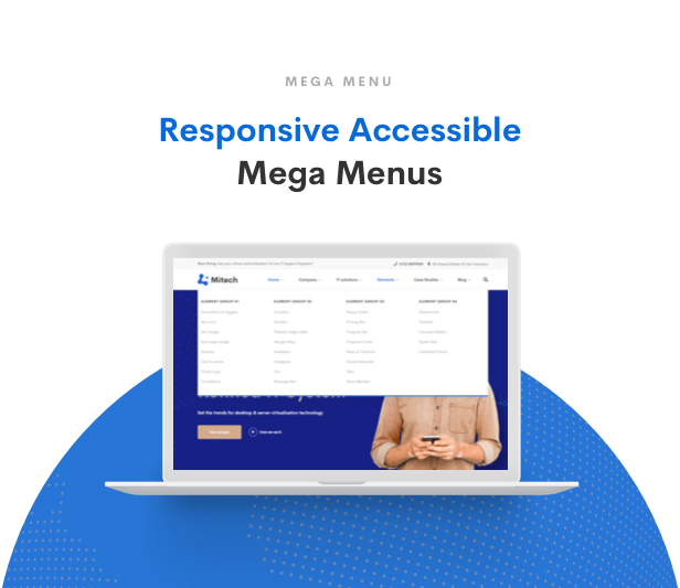 IT Solutions Mitech - Technology, IT Solutions & Service WordPress Theme - Mega Menu