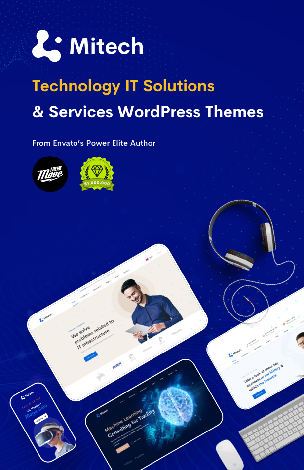IT Solutions Mitech - Technology, IT Solutions & Service WordPress Theme - IT Service
