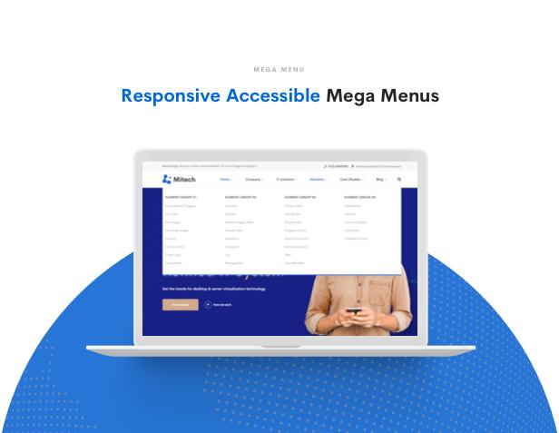 IT Solutions Mitech - Technology, IT Solutions & Service WordPress Theme - Mega Menu