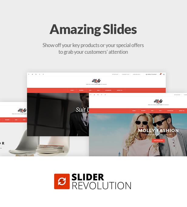 Fashion Store WooCommerce WP Theme - Amazing Sliders
