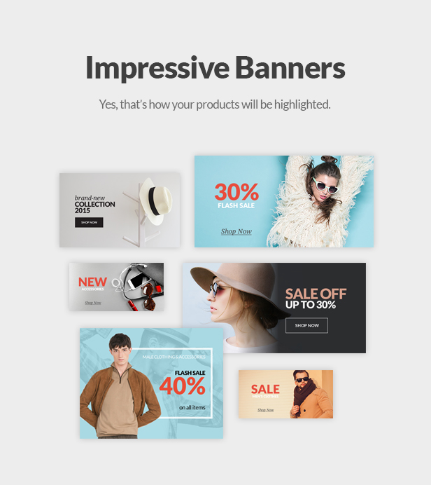 Fashion Store WooCommerce WP Theme - Impressive Banners