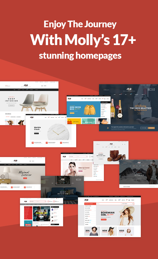 Fashion Store WooCommerce WP Theme - 17+ Stunning Homepages