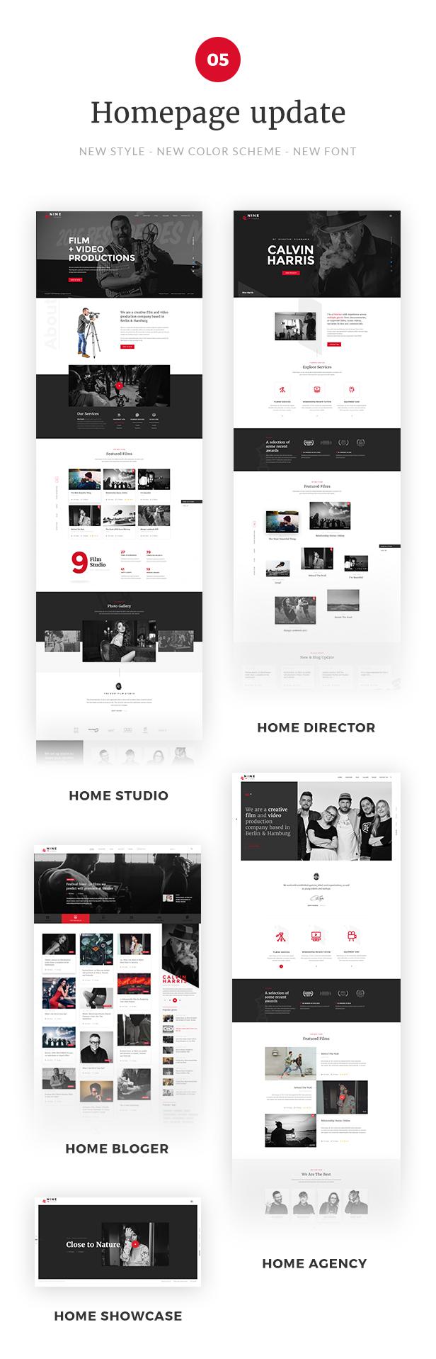 Nine Studio - A Film Maker, Studio, Agency & Blogger WordPress Theme