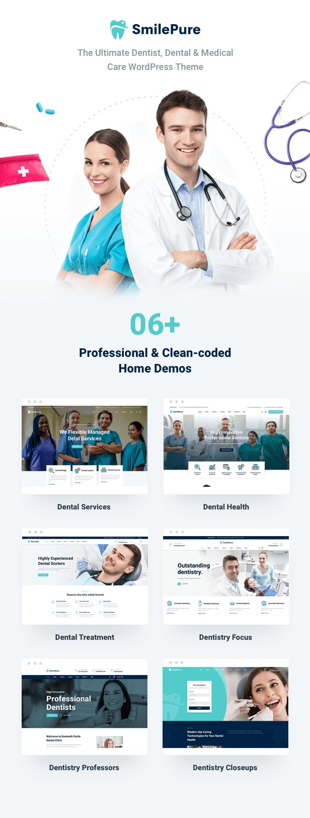 SmilePure - Dental & Medical Care WordPress Theme - 4