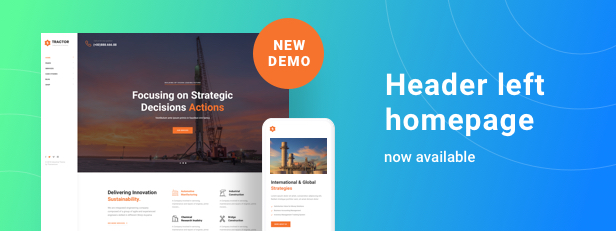 Tractor - Industrial Manufacturing WordPress Theme