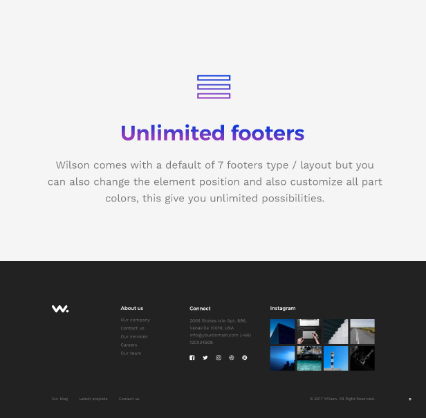 Corporation WordPress Theme - Unlimited Footer