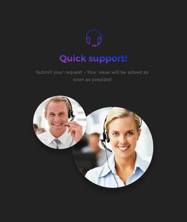 Corporation WordPress Theme - Quick Support