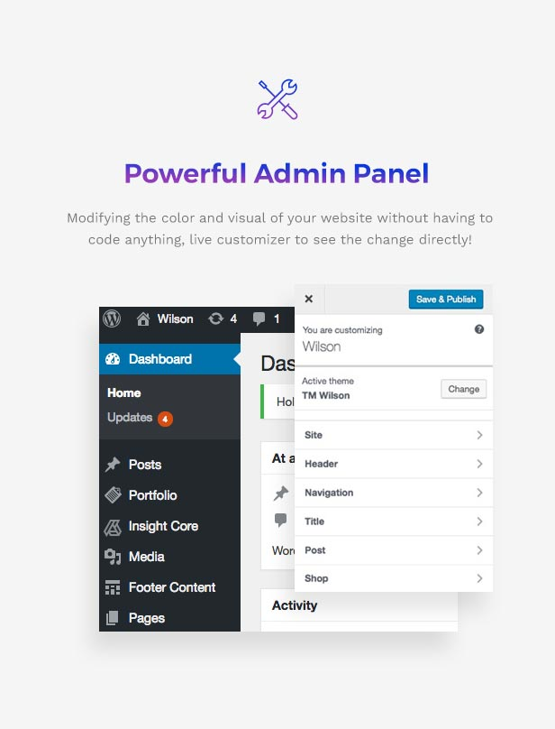 Corporation WordPress Theme - Powerful Admin Panel
