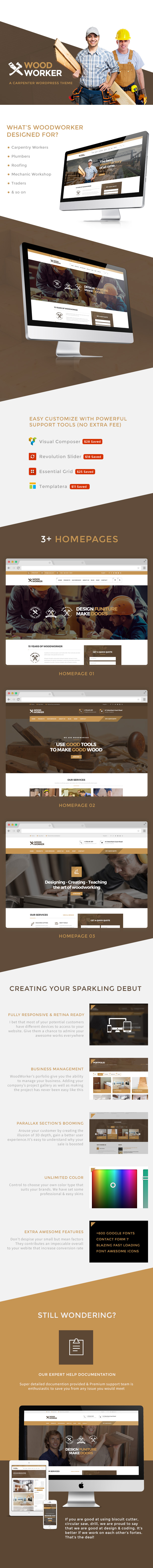 WoodWorker - Carpentry Handy Service WordPress Theme - 5