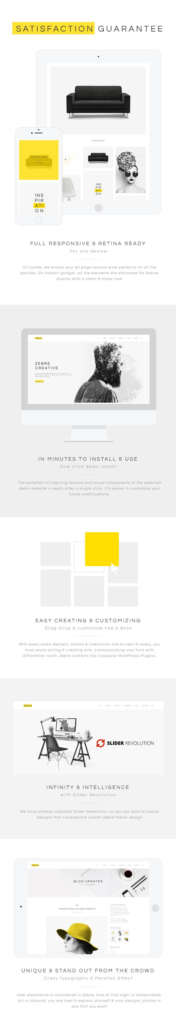Zebre - Minimal Portfolio WordPress Theme For Freelancer & Agency - 7
